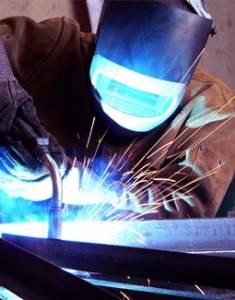 Material de protección profesional para soldadores